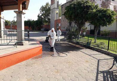 Gobierno de Tonalá continúa con trabajos de desinfección en plazas públicas del municipio