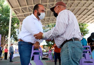 Tonalá en coordinación con el Gobierno de Jalisco realizan entrega de paquetes nutricionales a 850 adultos mayores